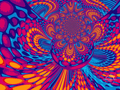 Digital Art - Psychedelic Mind Trip by Absinthe Art By Michelle LeAnn Scott