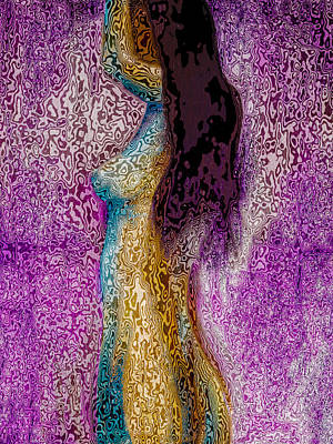 Digital Art - Psychedelic Nude by David Patterson