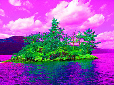 Tree Photograph - Psychedelic Rock Island by Mike Podhorzer
