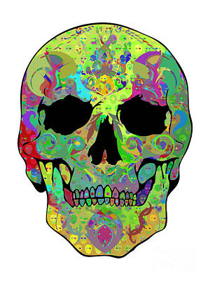 Psychedelic Skull Art Print by Mauro Celotti