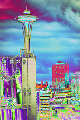 Psychedelic Seattle Art Print by Richard Henne