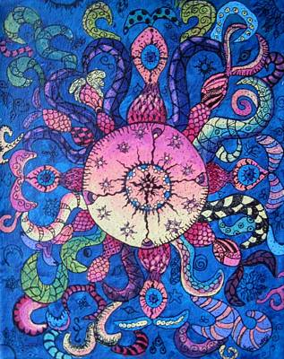 Psychedelic Squid Art Print