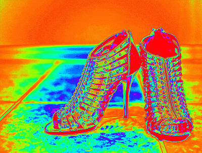 Photograph - Psychedelic Stilettos by Charles Benavidez