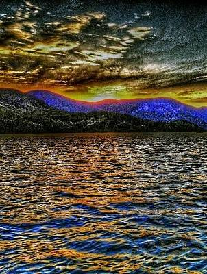 Mountain Sunset Digital Art - Psychedelic Sunset by Jason Williams