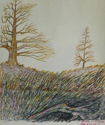 Drawing - Psychic Landscape by Michael Anthony Edwards