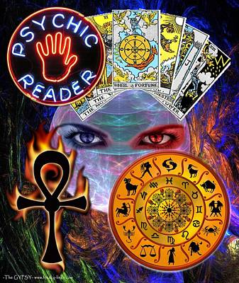 Digital Art - Psychic Reader by The GYPSY