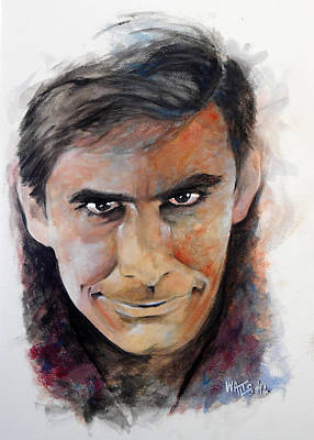 Hitchcock Film Painting - Psycho - Anthony Perkins by William Walts