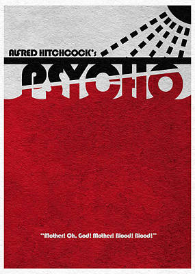 Psycho Art Print by Ayse Deniz