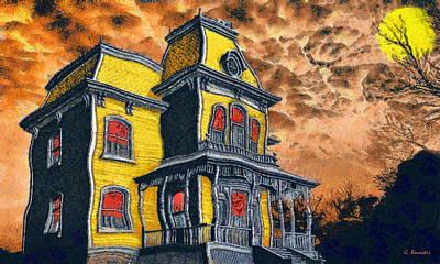 Rossidis Painting - Psycho by George Rossidis