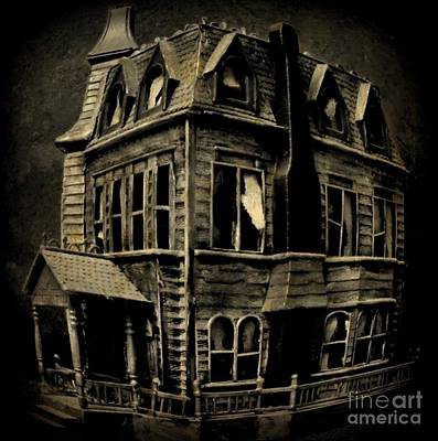 Psycho Mansion Art Print by John Malone