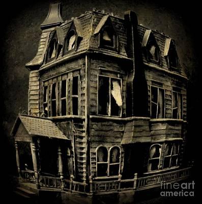 Haunted House Digital Art - Psycho Mansion by John Malone