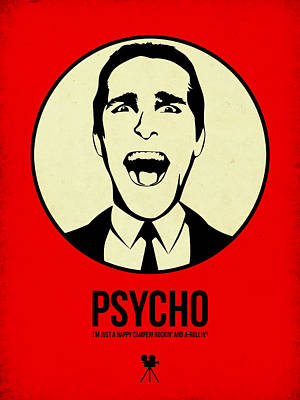 Superhero Mixed Media - Psycho Poster 1 by Naxart Studio