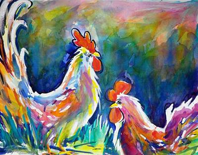 Painting - Psychodelic Cluckers by Therese Fowler-Bailey