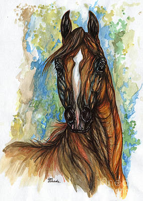 Psychodelic Chestnut Horse Original Painting Original