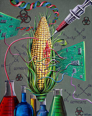 Inc Painting - Psychotically Modified Organism by Jim Figora