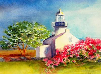 Painting - Pt Loma Lighthouse by Lori Chase