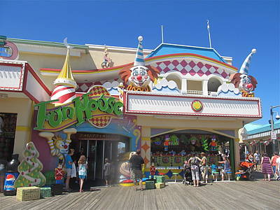 Movies Star Paintings - Pt Pleasant Boardwalk Funhouse by Melinda Saminski