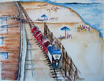 Pt Pleasant Nj Sand Train Art Print