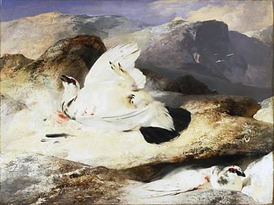 Landseer Painting - Ptarmigan In A Landscape by Edwin Landseer