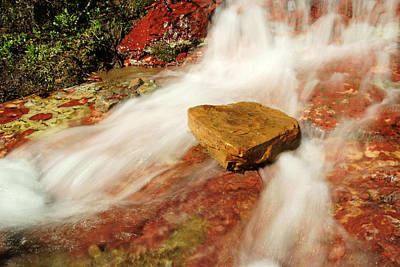 Photograph - Ptarmigan Trail Waterfall by Daniel Woodrum