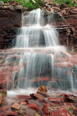 Ptarmigan Trail Waterfall No.4 Art Print
