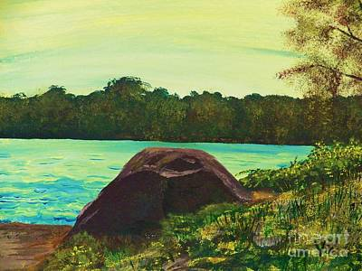 Painting - Ptg   Adirondack Lake by Judy Via-Wolff