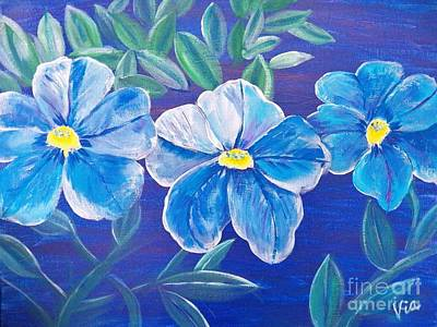 Painting - Ptg. Blue Million Bells by Judy Via-Wolff