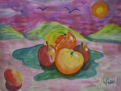 Painting - ptg. Fruit Today's Demo by Judy Via-Wolff