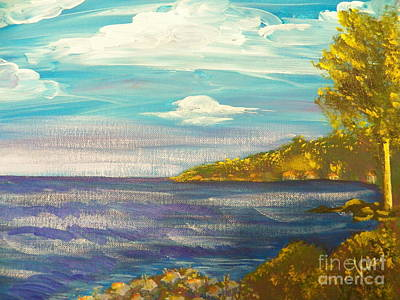 Painting - Ptg   Highview Point  Ny by Judy Via-Wolff
