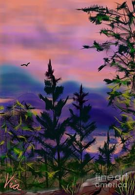 Painting - ptg.  Mount Baker View by Judy Via-Wolff