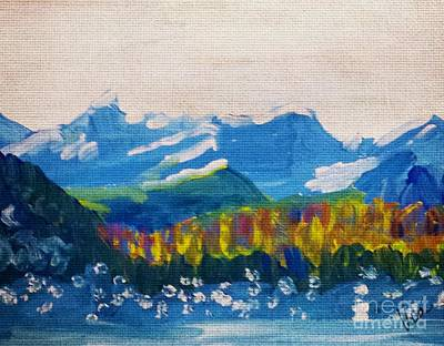 Painting - ptg. Mountain Air by Judy Via-Wolff