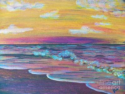Painting - ptg  Sanibel Sunset by Judy Via-Wolff