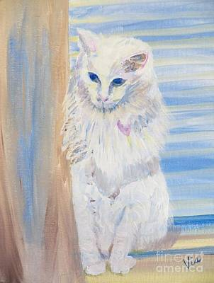 Painting - Ptg    Silky Noella Angelina Via-wolff by Judy Via-Wolff