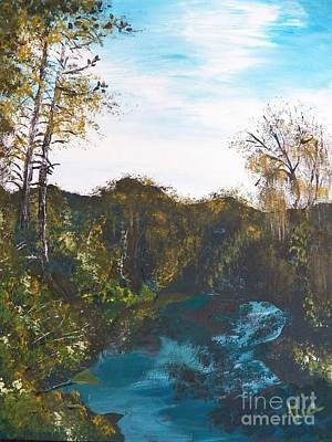 Painting - Ptg. Turkey Creek Sanctuary by Judy Via-Wolff