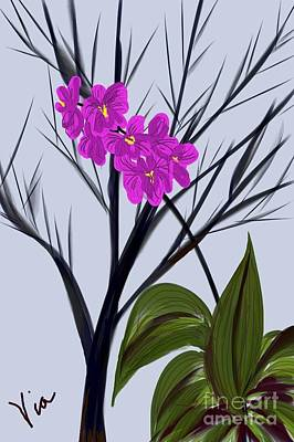 Painting - ptg   Window Orchid by Judy Via-Wolff