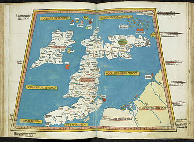 Ptolemy Photograph - Ptolemaic Map Of British Isles by British Library