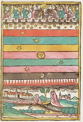 Ptolemaic Universe, 1481 Art Print by Granger