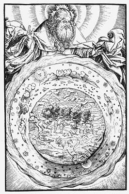 Cosmology Painting - Ptolemaic Universe, 1534 by Granger