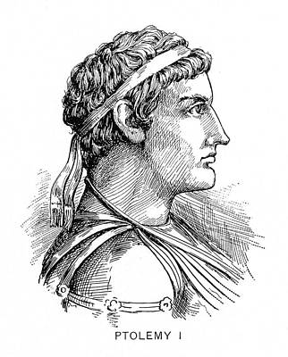 Ptolemy Drawing - Ptolemy I (364?-283? B by Granger