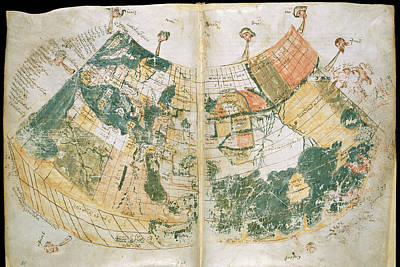 Ptolemy Photograph - Ptolemy's World Map by British Library