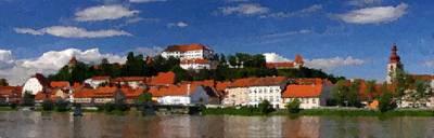 Painting - Ptuj Slovenia by Samuel Majcen