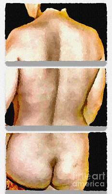 Kiss Breast Nipple Photograph - Pty Segmented - No.1654 by Joe Finney