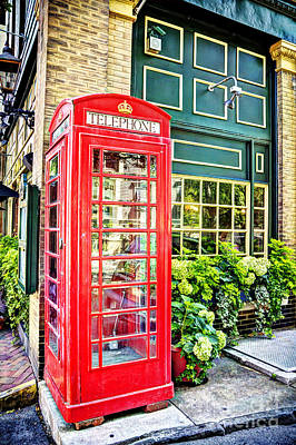 Tele Photograph - Pub British Telephone Booth by Joan McCool
