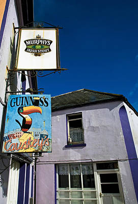 Pub Signs, Eyeries Village, Beara Art Print by Panoramic Images