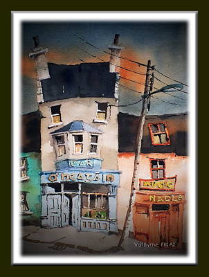 Painting - Pub Street 1 by Val Byrne