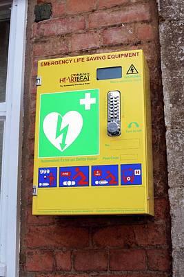 Public Defibrillator Art Print by Martin Bond