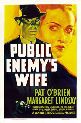 Public Enemys Wife, L-r Pat Obrien Print by Everett