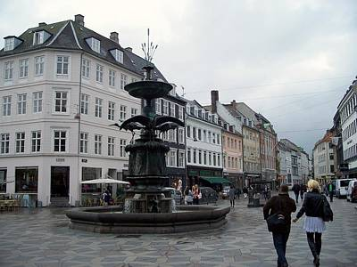 Sean Rights Managed Images - Public Fountain In Copenhagen Denmark Royalty-Free Image by Rick Rosenshein