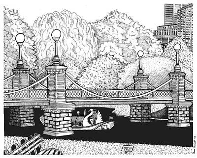 Public Garden Swan Boats Art Print by Conor Plunkett
