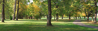 Public Park Photograph - Public Park In Autumn Colors, Gresham by Panoramic Images